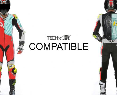 tuta moto su misura tech air compatibile