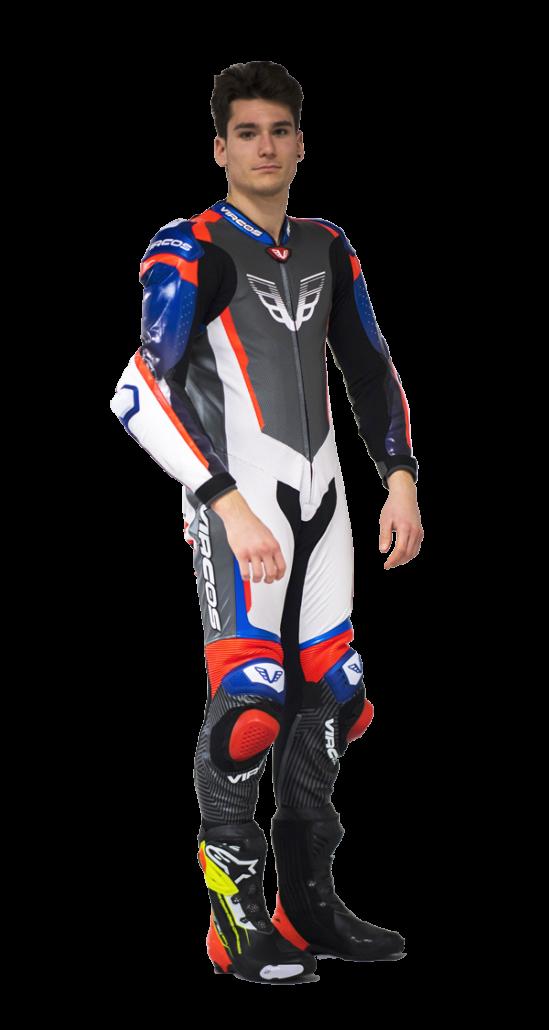 tuta in pelle per moto racer 7