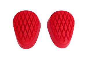 accessori moto saponette ginocchia bagnato rosse