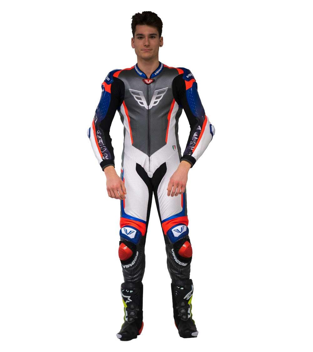 dettaglio frontale tuta moto racer 7