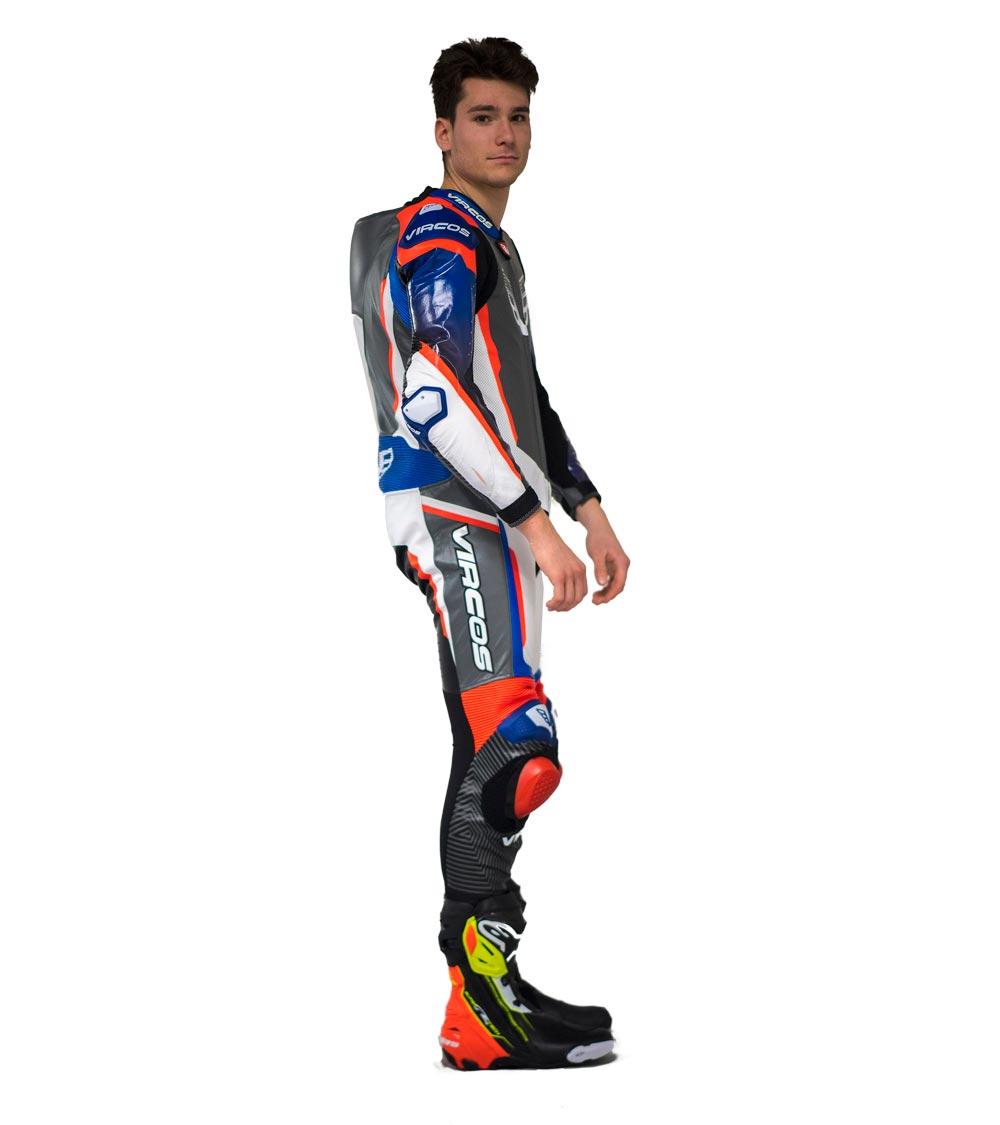 dettaglio laterale destro tuta moto racer 7